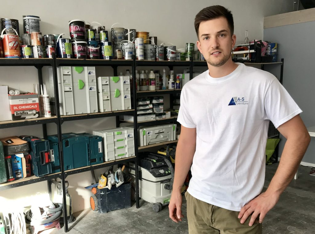Guillaume Allard-Serre, Gérant de l'entreprise A-S Peinture à Nîmes