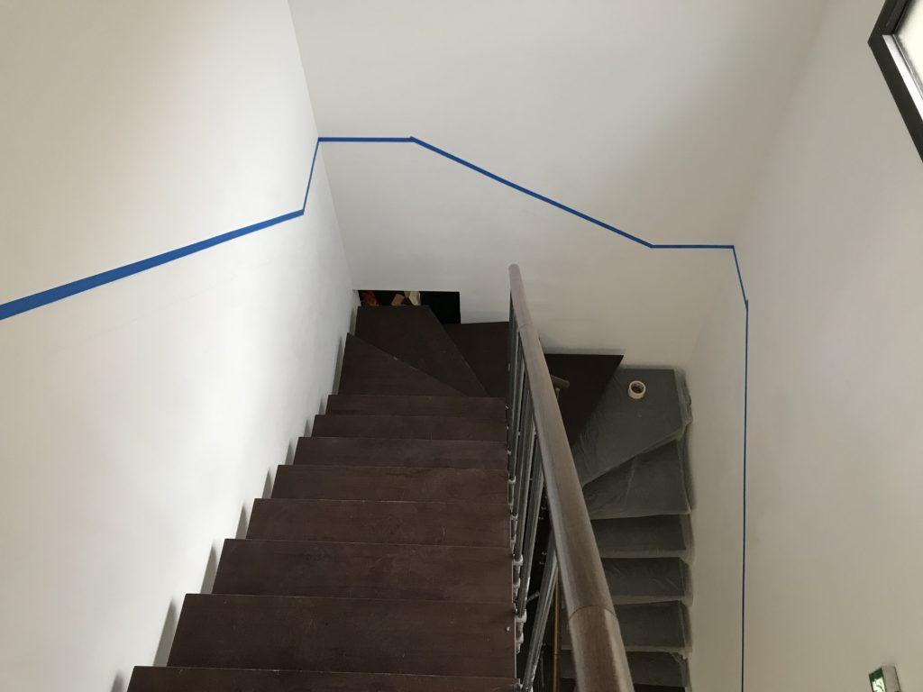 Délimitation du sous bassement escalier agence immobilière