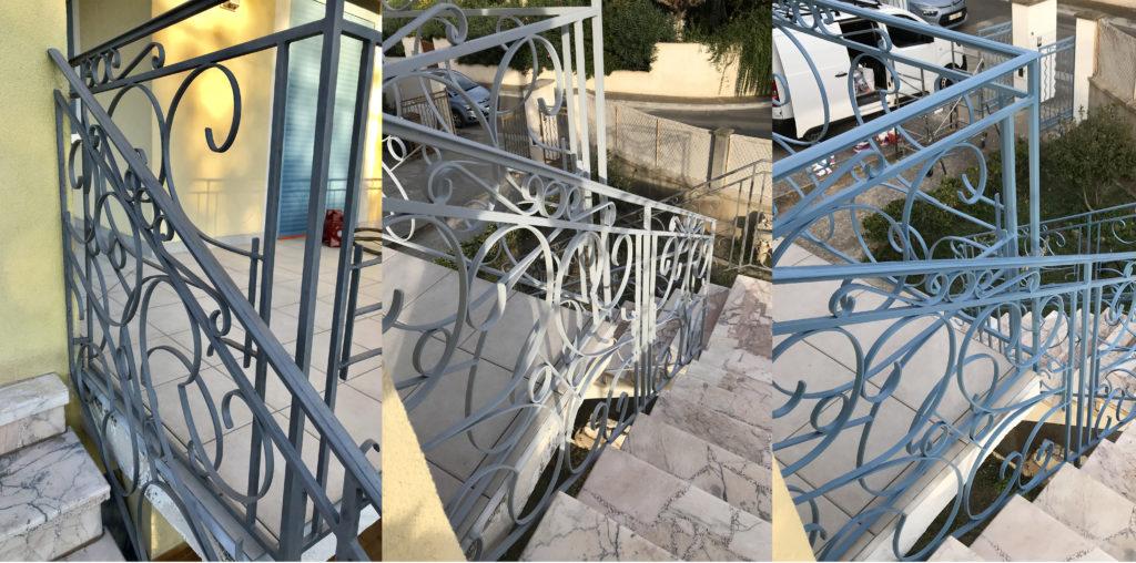 Aérogommage, antirouille et peinture de grilles à Martigues