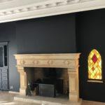 Peinture à l'airless murs, plafonds et vaisselier