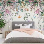 Pose de papier peint motif fleur