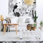 Pose de papier peint motif jungle