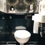 Pose de papier peint toilette
